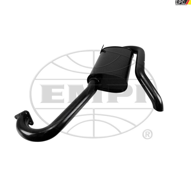 Empi Hideaway Muffler For Merged Header Black: Empi Vw Exhaust At Woreks.co
