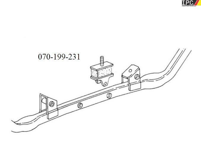vw vanagon engine mount (inner) - rein