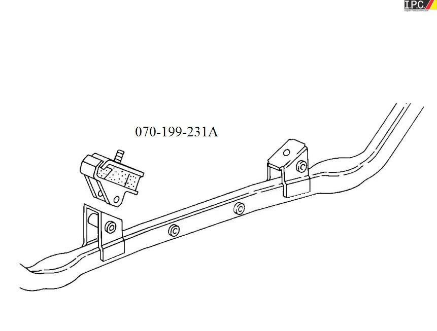vw vanagon engine mount (outer) - meyle