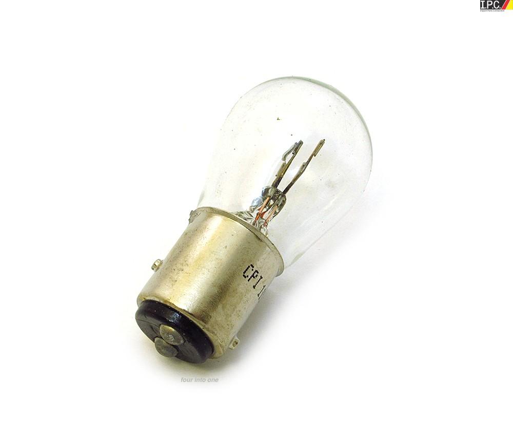 Dual Filament Tail  Turn Signal Bulb Clear Each 12 Volt 5  21 Watt I P C  Vw Parts  Vw Bug Parts