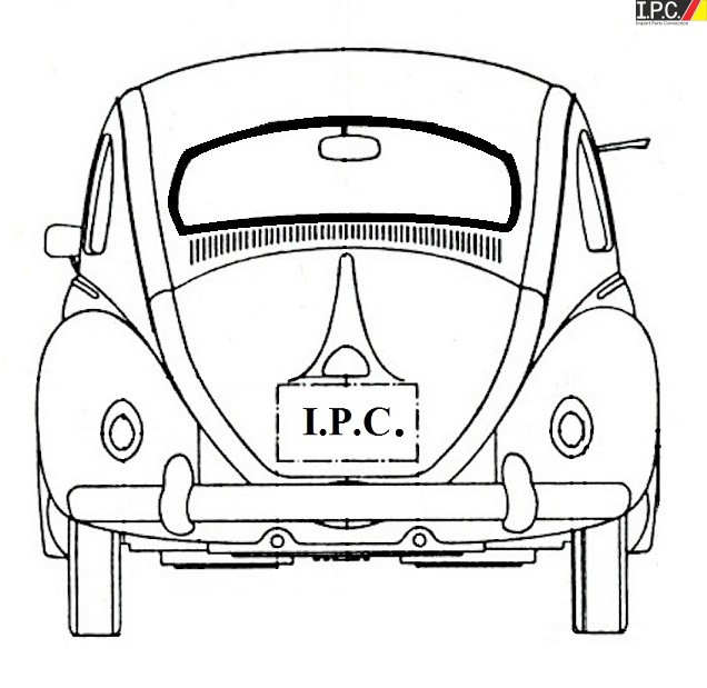 Rear Window Seal Cal Look (High Quality) -1958-1964 VW Bug