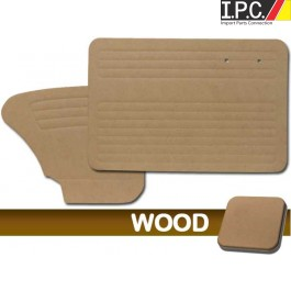 1965-1966 Bug Sedan Door Panels - Wood Only, W/O Pockets, Fronts & Rears