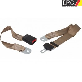 Universal Lap Belt with European Style Push button Buckle