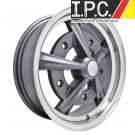 Anthracite w/Polished Lip Raider Wheel For Early Bug, Ghia, Bus, Type 3