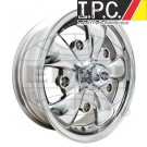 Polished GT-5 Wheel w/Chrome Cap For Early Bug, Ghia, Bus, Type 3