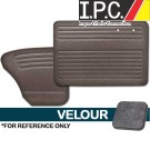 VW Bug 1956-1964 Sedan Door Panel Set w/out Pockets - Velour