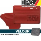 VW Bug 1967-1977 Sedan Door Panel Set w/ Pockets - Velour