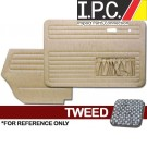 VW Bug 1967-1972 Convertible Door Panel Set w/ Pockets - Tweed