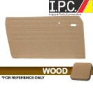 VW Karmann Ghia 1964-1974 Authentic Style Door Panels - W/O Pockets, Front Only, Wood Only