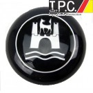 VW Bug, Ghia, Type 3 Classic Steering Wheel Black/Silver Wolfsburg Horn Button