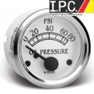VDO 80 PSI Oil Pressure Gauge, Use with VDO Sender