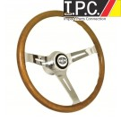 EMPI 380mm (23mm Grip) Classic Wood Steering Wheel W/Boss