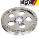 EMPI Polished Aluminum Stock Size Crank Pulley Black Marks
