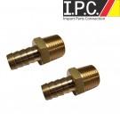 EMPI Brass Oil System Fittings 1/2 Thr X 1/2 Hose