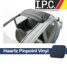 1957-1963 Bug Sliding Rag Top Cover, (43.1/8 x 37.7/8) W/All Round Corners - Haartz Supreme Pinpoint Vinyl