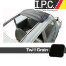 1956 Bug Sliding Rag Top Cover, (42.5 x 37) W/ Front Round & Rear Square Corners - Twill Grain (Canvas Substitute)