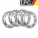 Aluminum Beauty Rings, Slotted, Set of 4, Fits 1949-65 Bug & Ghia