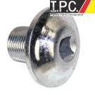 EMPI Billet Pulley Bolt, Silver Zinc Steel