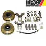 VW Bug, Ghia 1949-1965 Front, Zero Off-Set, 5-Wide Disc Brake Kit
