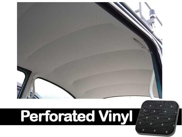 TMI VW Easy Install Headliner Bright White Crush Grain Vinyl Beetle and Super Beetle Sedan 1968-1977