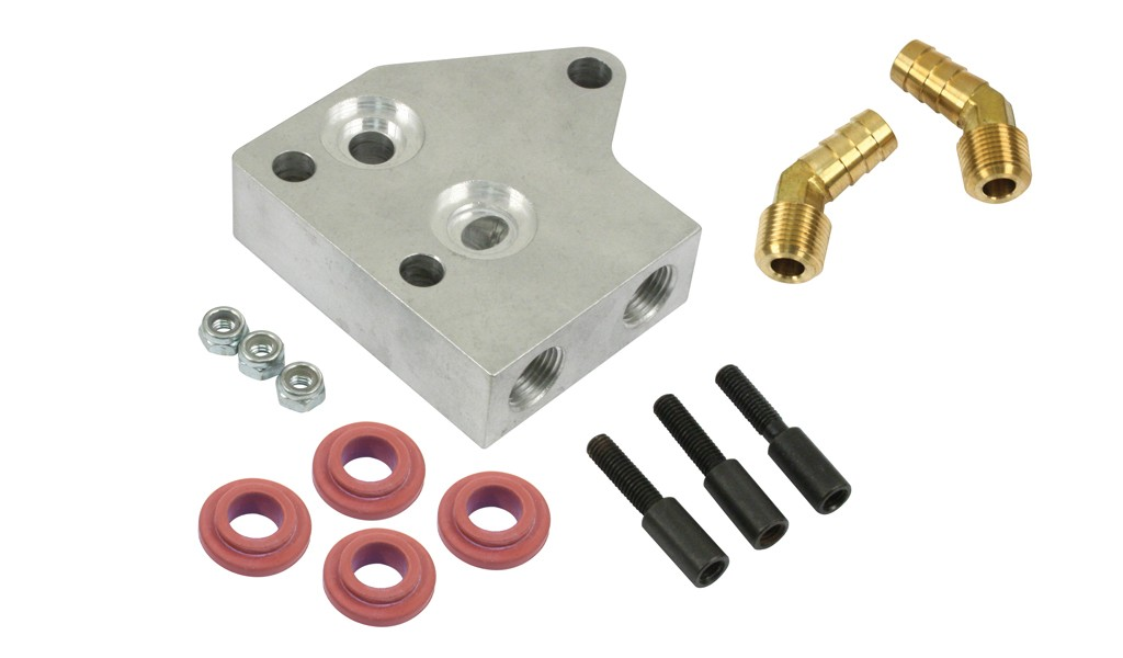 EMPI Stock Replacement Oil Cooler Dual Bypass Adapter Flange
